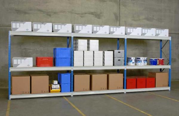 Weitspannregal 6.000 mm 3 Felder mit Spanplatten 500 kg Traglast